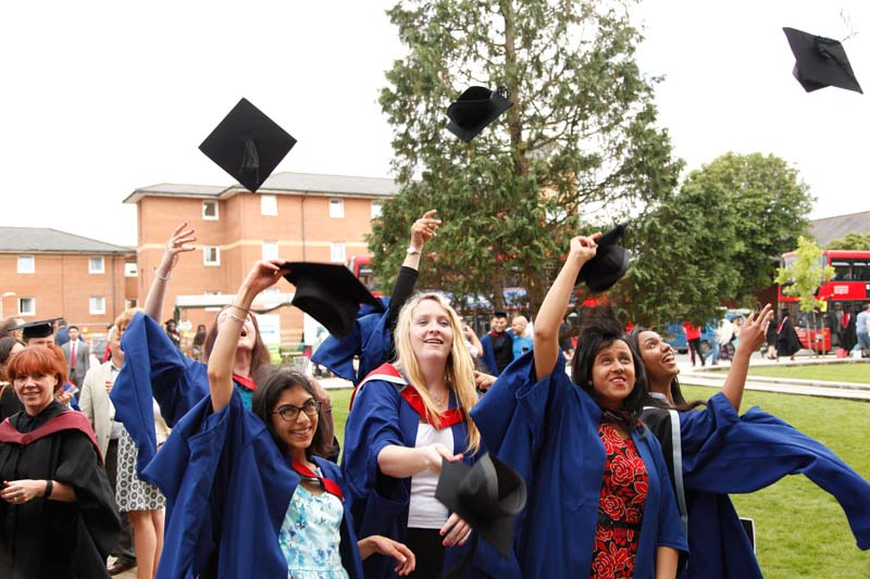 Students enjoying the third day of Graduation at Middlesex