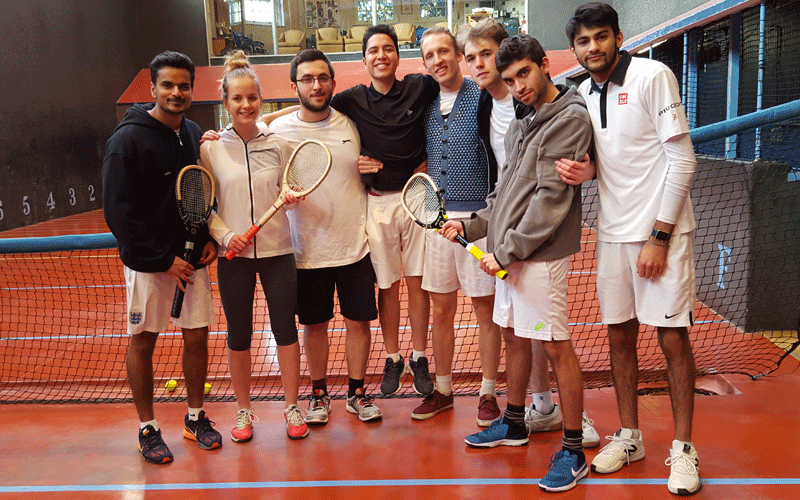 Real tennis team Middlesex University