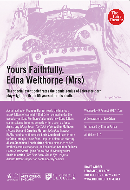 Flyer for Yours Faithfully, Edna Welthorpe (Mrs)
