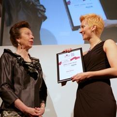 Nela Brown receiving her award