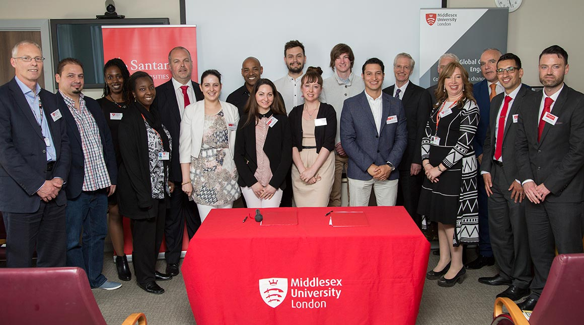 Middlesex University & Santander University Signing