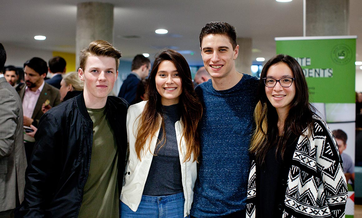 Students at Unite Olympic Way launch event