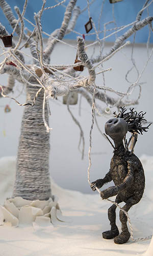 Stop-motion character from Adara Todd's film Twiddly Things