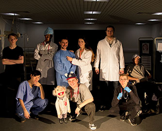 Students transform Grove into A&E ward exploring themes of accident & emergency in the arts
