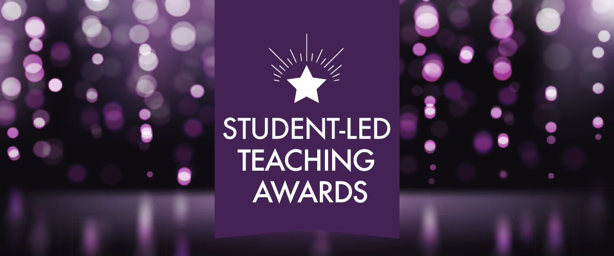 Banner with the words Student-Led Teaching Awards