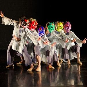 Dancers performing at ArtsCross in Beijing