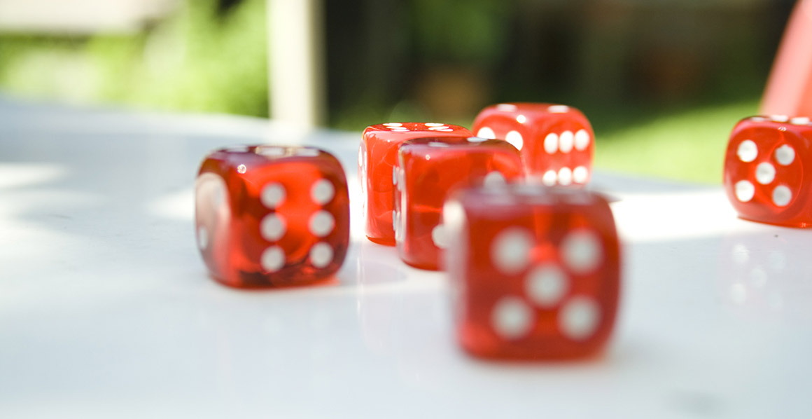 Dice being rolled