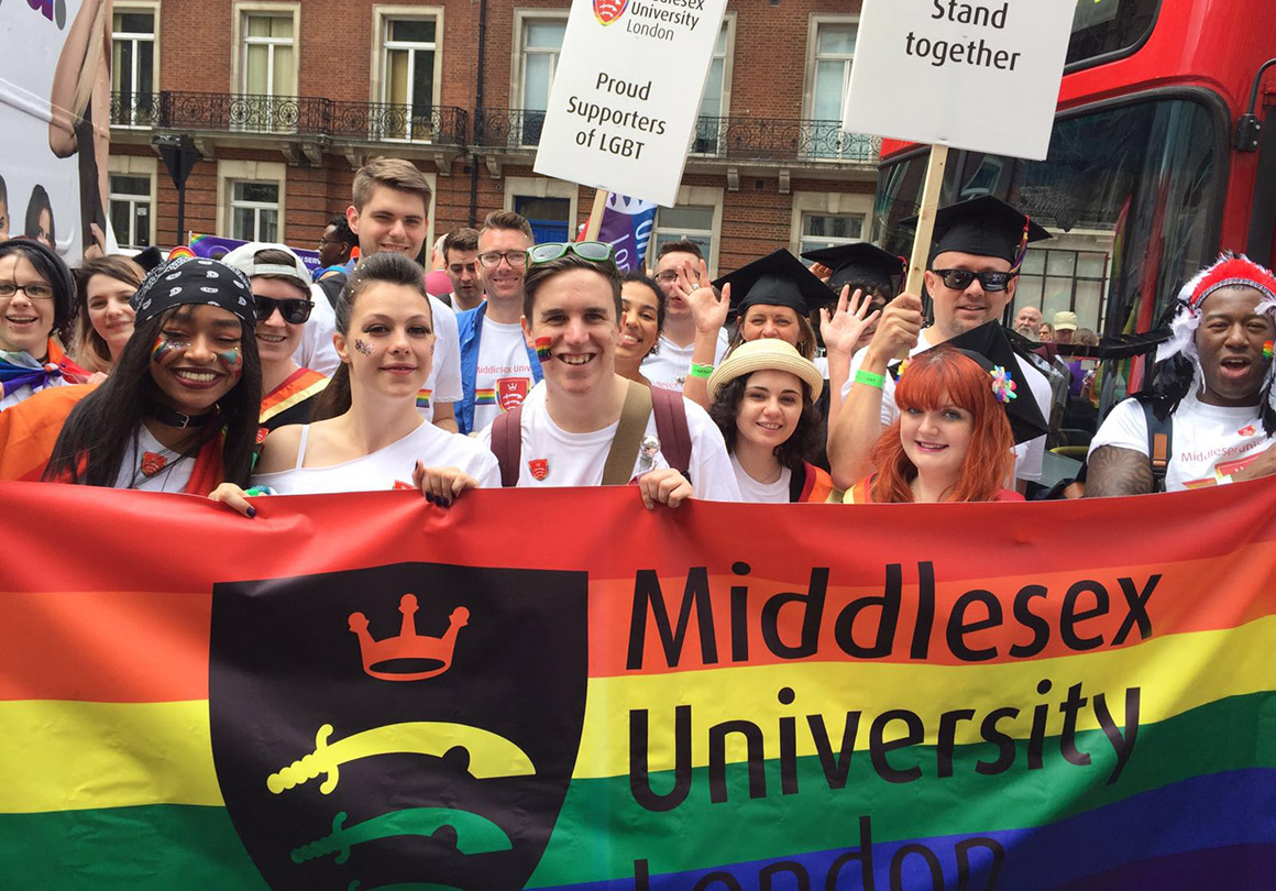 Students and staff celebrate London Pride