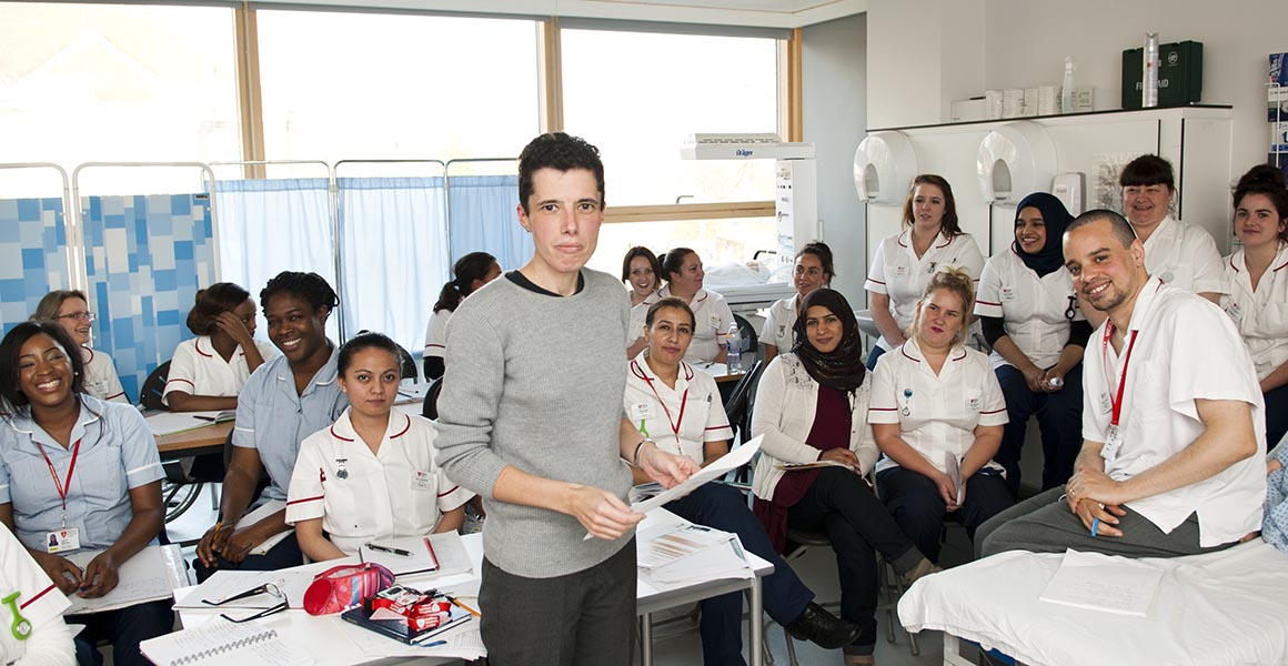 A nursing class at Middlesex