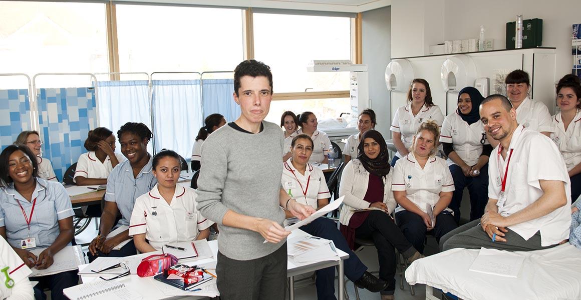 A nursing class at Middlesex