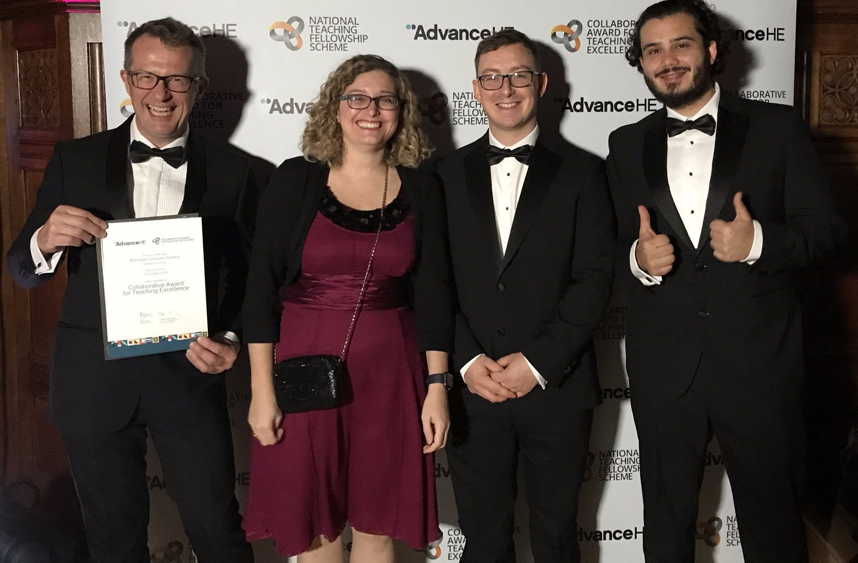 MDX Computer Science team wins Collaborative Award for Teaching Excellence