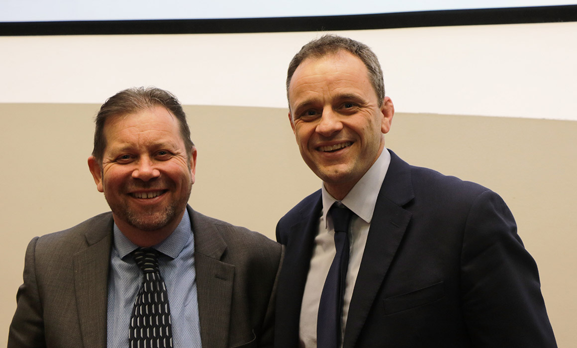Jonathan Barber and colleague from the Institute of Financial Accountants
