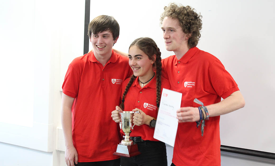 First year team with iMechE London Regional Design Challenge cup