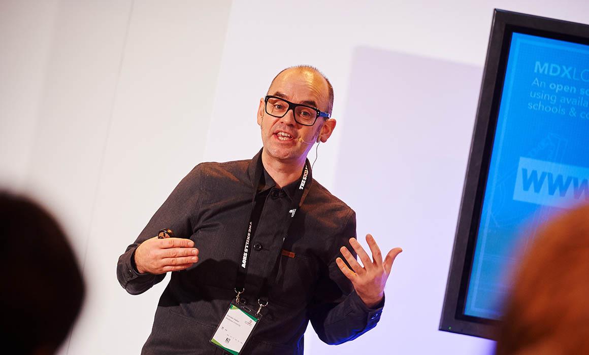 Prof Brendan Walker presenting at Skills Show 2016