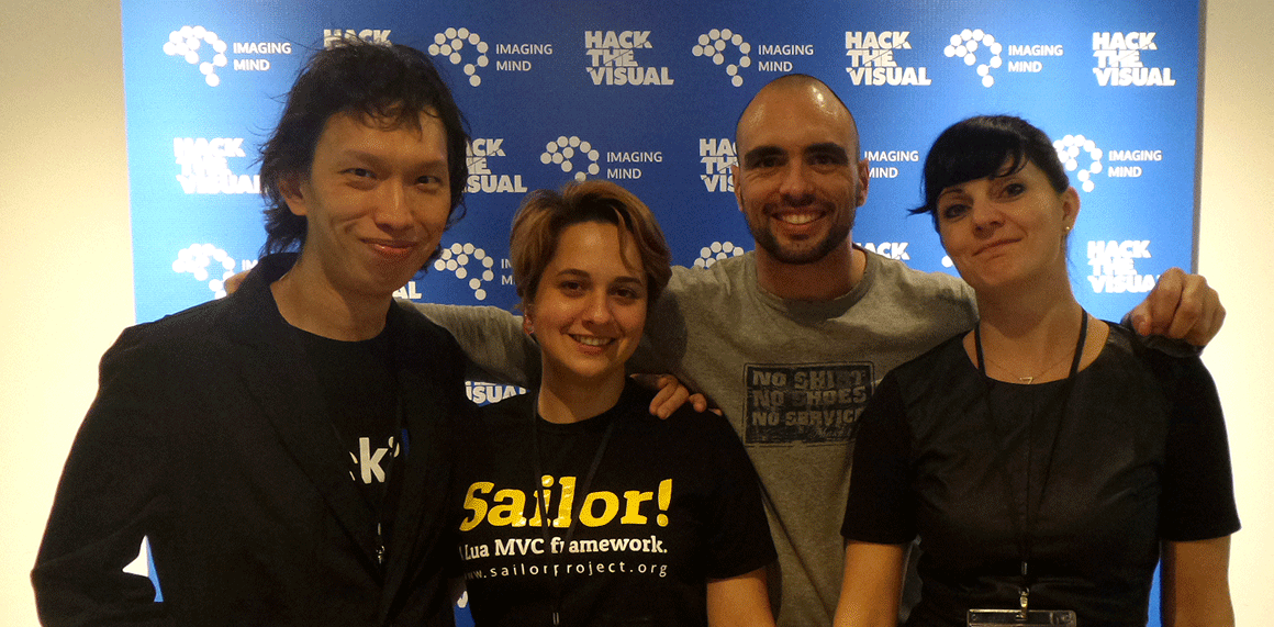 Lionel and his team at the Hack The Visual event