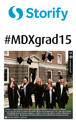 Storify Middlesex University Graduation