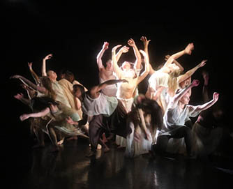 Dance students perform works by professional guest choreographers