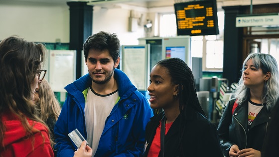 Students at Middlesex University campus