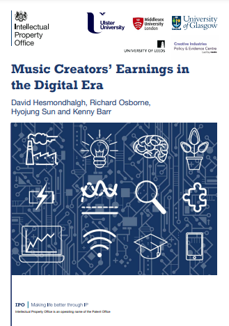 Cover of Music Creators' Earnings in the Digital Era, report for Intellectual Property Office