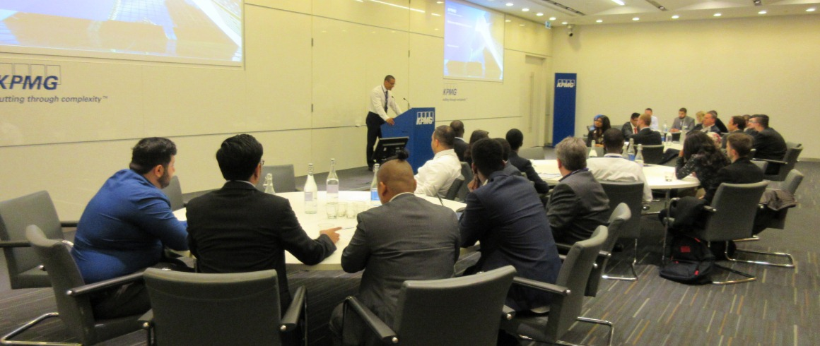Presentations take place at KPMG UK offices