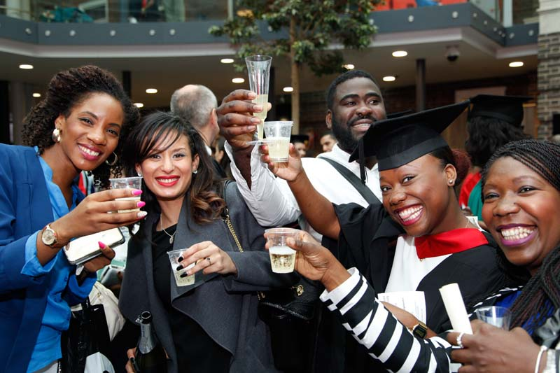 Students enjoy the second day of graduation