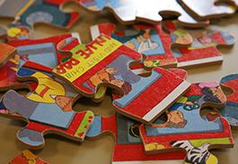 Jigsaw pieces in a nursery