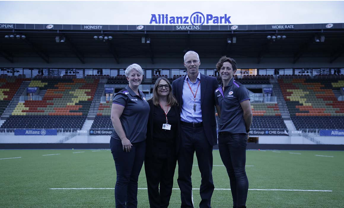 Staff from Middlesex and Saracens at Allianz Park