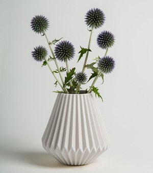 A vase made by Designer in Residence Helena Ambrosia