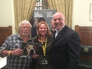 Bill Oddie, Dr Lisa Cameron MP and Dr Simon Harding