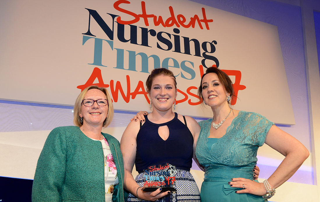 Orla Hillary at the Student Nursing Times Award 2017