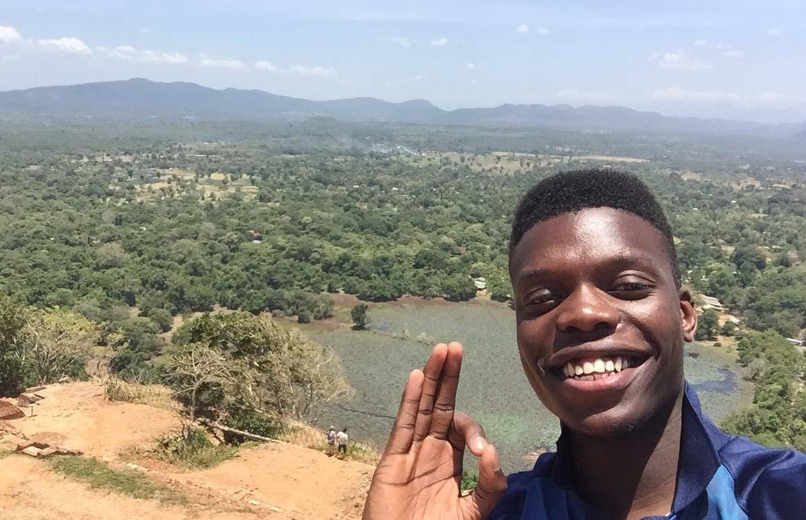 Psychology student Denzil Bell in Sri Lanka