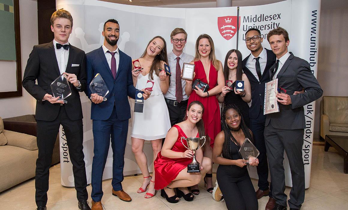 Middlesex Sports Ball award winners