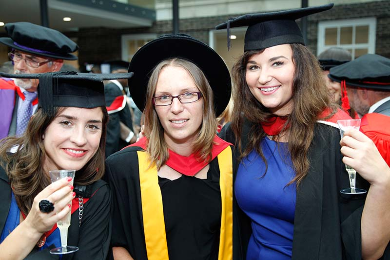 Students celebrate on day one of Graduation