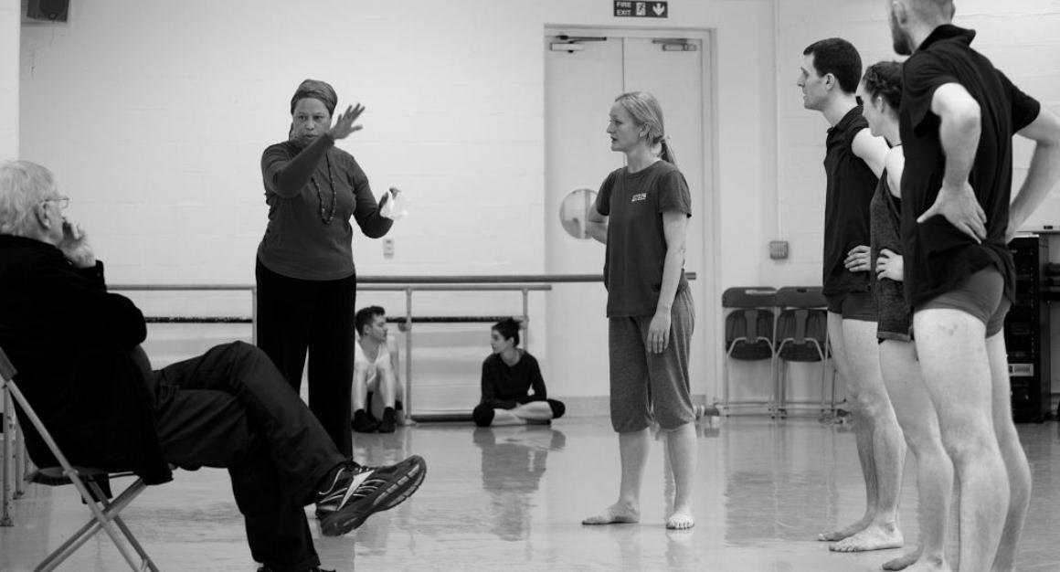 A Cohan Collective session takes place in a dance studio