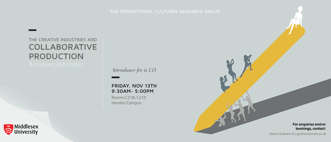The Creative Industries and Collaborative Production event poster