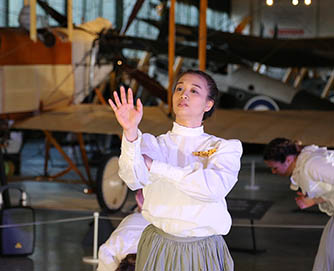 Dance students and primary school pupils perform at RAF Museum
