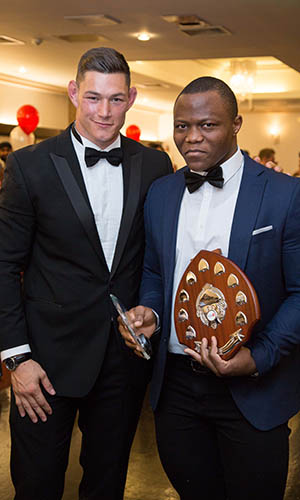 Sportsman of the Year Cyrille Tchatchet II with Tom Lindsay