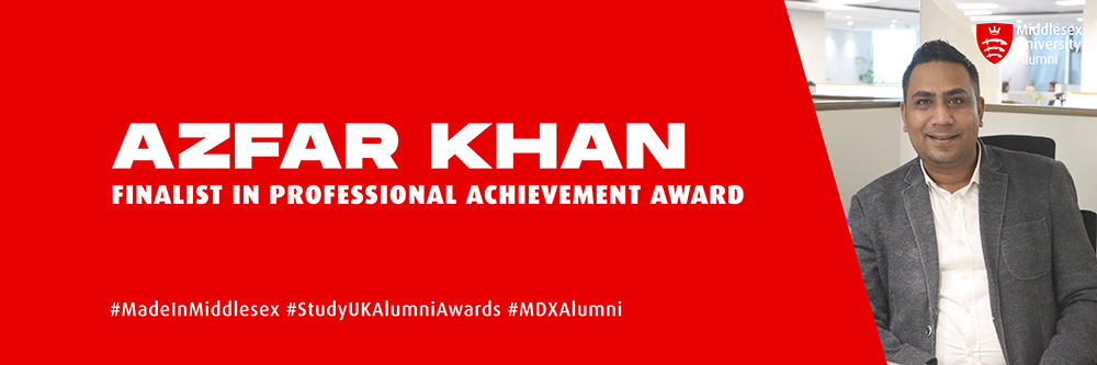 Azfar Khan for Alumni Awards